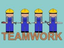 Carpenter�s teamwork Stock Images