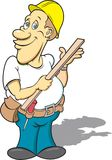 Carpenter. This is a  image done in multiple layers for easy editing Royalty Free Stock Photos