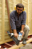 Carpenter. Construction worker, carpenter in time of work Stock Photography