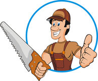 Carpenter. Illustration of carpenter man. Isolated Royalty Free Stock Image