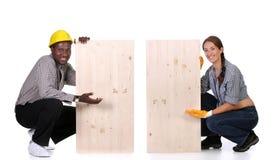 Free Carpenter And Woman Carpenter Royalty Free Stock Photos - 7614028
