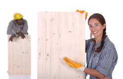 Free Carpenter And Woman Carpenter Stock Photography - 7614042