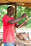 Carpenter Applying Glue Stock Photos