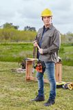 Carpenter as competent craftsman Royalty Free Stock Images