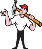 Carpenter Builder Hammer Cartoon Royalty Free Stock Images