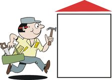Carpenter cartoon Stock Image
