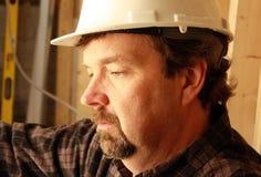 Carpenter close-up stock photo
