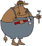 Carpenter Cow vector illustration