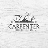 Carpenter design element in vintage style Stock Images