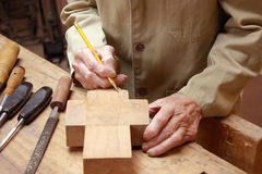 Carpenter drawing Royalty Free Stock Images