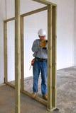 Carpenter drilling Royalty Free Stock Photo