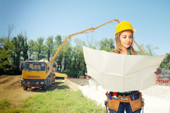 Carpenter  on duty Royalty Free Stock Image