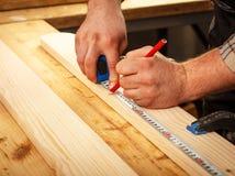 carpenter elderly working Arkivfoto