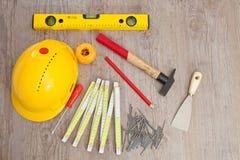 Carpenter equipment Royalty Free Stock Photography