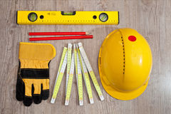 Carpenter equipment Royalty Free Stock Photos