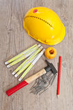 Carpenter equipment Royalty Free Stock Photo
