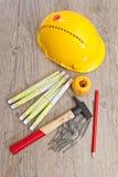 Carpenter equipment Royalty Free Stock Photo