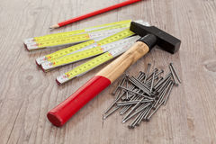 Carpenter equipment Stock Image