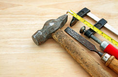 Carpenter equipment Royalty Free Stock Photography