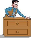 Carpenter for forniture royalty free illustration