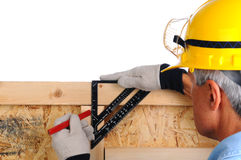 Carpenter with Framing Square Stock Image