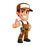 Carpenter. Friendly carpenter, he is dressed in work clothes royalty free illustration