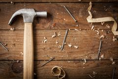 Carpenter hammer Royalty Free Stock Photos