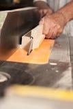 Carpenter hands Royalty Free Stock Image
