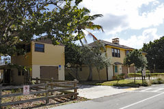 Carpenter House with Artists Studio. Hollywood, FL, USA - December 7, 2014: Artists studio over the third garage on the north side of the historical Carpenter stock photo