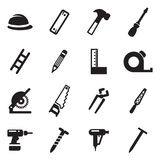 Carpenter Icons Stock Photography