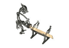 Carpenter iron toy Royalty Free Stock Images