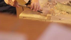 Carpenter labor master work with wood