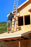 Carpenter with Ladder royalty free stock photo