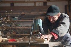 Carpenter manual of milling machine Stock Images