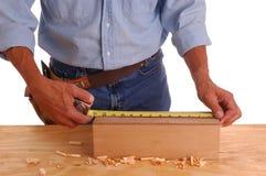 Carpenter measuring box Royalty Free Stock Images