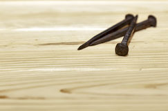 By Carpenter nails Stock Photography