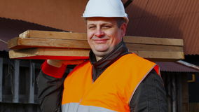 Carpenter at outdoors Royalty Free Stock Photography
