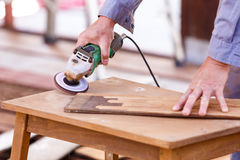Carpenter plane wood for house construction Stock Photos