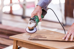 Carpenter plane wood for house construction Stock Photography
