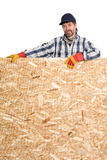 Carpenter and plywood Stock Photos