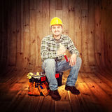 Carpenter portrait Royalty Free Stock Image