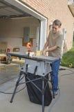 Carpenter repairs Royalty Free Stock Photo