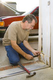 Carpenter repairs Stock Photo