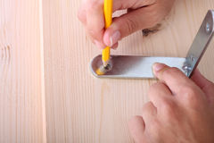 Carpenter�s accessories Stock Image
