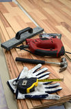 Carpenter's floor equipment Royalty Free Stock Photography