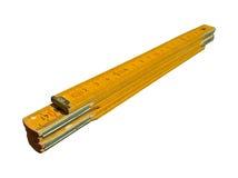 Carpenter`s Folding Ruler Yellow Isolated royalty free stock image