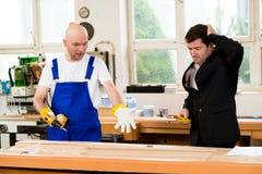 Carpenter's job is not good Stock Image