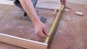 Carpenter`s job to measure the door frame