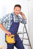 Carpenter's portrait Stock Photo