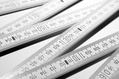Carpenter's ruler closeup Stock Images